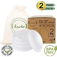 Conchas Colectoras de Leche Materna/Conchas Protectoras de Pezones de Silicón Ultra Suave Grado Alimenticio Libre de BPA (Two Pack)
