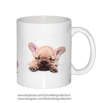 Becher Schlafende Französische Bulldogge Jeanettespets By Jeanette Hutfluss Guten Morgen Becher Tasse