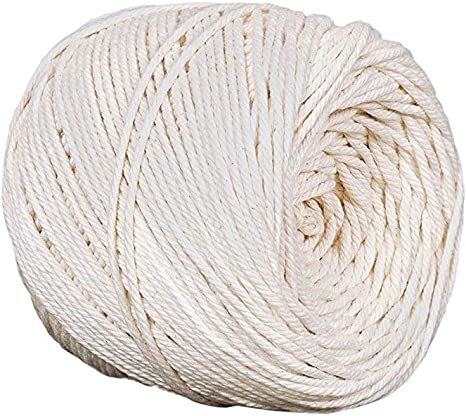 Green Macrame Cord Natural Cotton Macrame Rope for Macrame Supplies,Decor Craft DIY Cord Single Strand Cotton Rope 3mm/×100m About 109yd