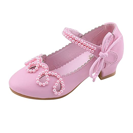 efe255f3d33f8 Amazon.com: Toddler Sandals FAPIZI Baby Kids Girls Pearl Square Heel ...