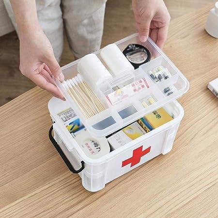 QXTT Botiquin De Primeros Auxilios Botiquin Medicamentos Botiquín Metalico Caja De Primeros Auxilios Organizadora De Plástico Pequeña con Tapa: Amazon.es: Hogar