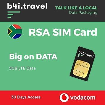 Vodacom - Tarjeta SIM de Datos prepagados de Sudáfrica, 5 GB ...