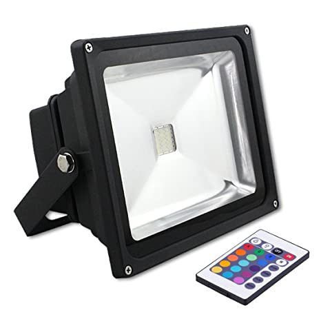XY® IP65 impermeable IR Remote Control RGB Proyector LED con una ...
