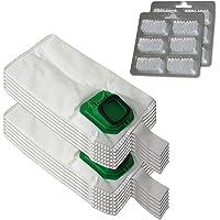 Pack de 12 bolsas y bolsitas () 12 Profumini duende Microfibra para aspiradora Vorwerk Kobold VK 140 150, VK140, VK150
