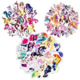 Waterproof Water Bottle Stickers for Girls Kids Teens, 90 PCS Three in One Cute Cool Cartoon Sticker Pack for Laptop Luggage Suitcase Car Notebook Phone Guitar Skateboard (Three in One)