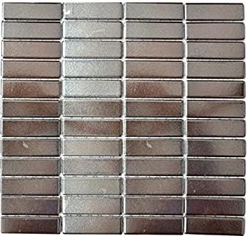 Carrelage Mosaique En Ceramique Batonnets Argent Pour Miroir Mural