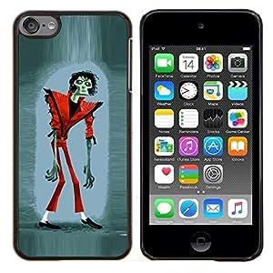 Dragon Case - FOR Apple iPod Touch 6 6th Generation - zombie Jackson Halloween funny thriller - Caja protectora de pl??stico duro de la cubierta Dise?¡Ào Slim Fit
