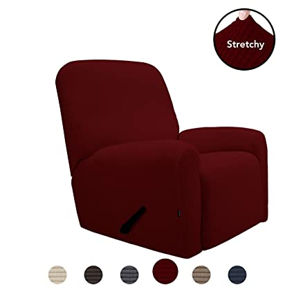Astounding Purefit Stretch Recliner Sofa Slipcover With Pocket Spandex Jacquard Anti Slip Soft Couch Sofa Cover Washable Furniture Protector With Elastic Andrewgaddart Wooden Chair Designs For Living Room Andrewgaddartcom