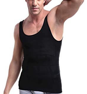 212be909e1 PlayCool Mens Slimming Body Shaper Vest Shirt