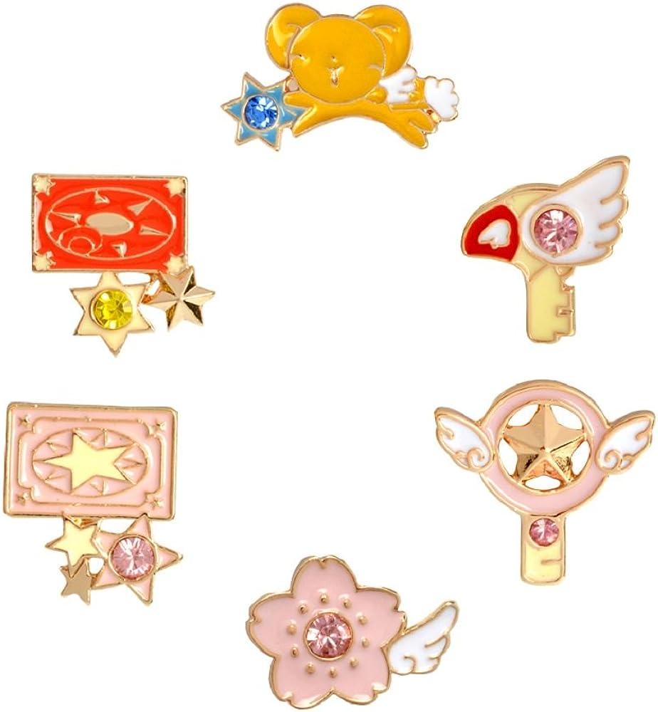 B Linker Wish New 20//Lot 3 Styles Cardcaptor Sakura Alloy Figure Lapel Pin Metal Brooch