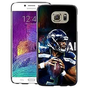 Snap-on Series Teléfono Carcasa Funda Case Caso para Samsung Galaxy S6 , ( 3 Seahawk Player )