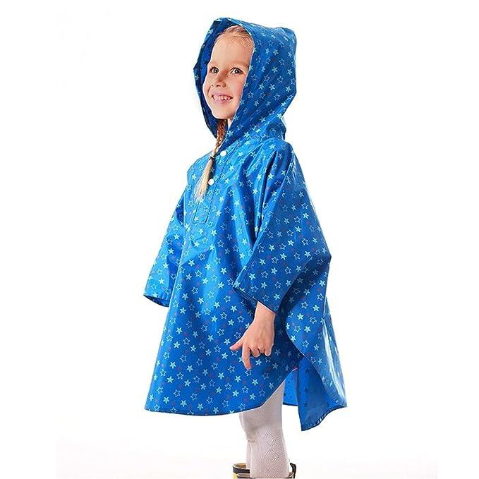 G-Kids Kinder Regenponcho Regenjacke Süß Punkt Wasserdicht Regenmantel Regencape für Jungen Mädchen