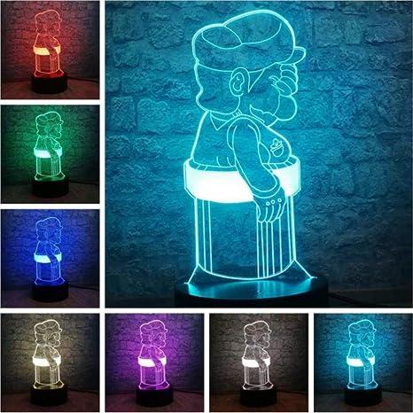 Juego clásico Super 3D LED Luz de noche Alimentada USB Mesa ...