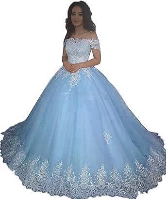 Monalia Women A-line Bridal Gown Tulle Sleeveless V-Neck Wedding Dress for Bride