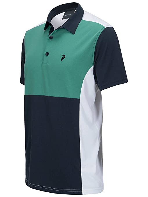 PEAK PERFORMANCE Men s Golf Race Tour Polo Digital Green S ...