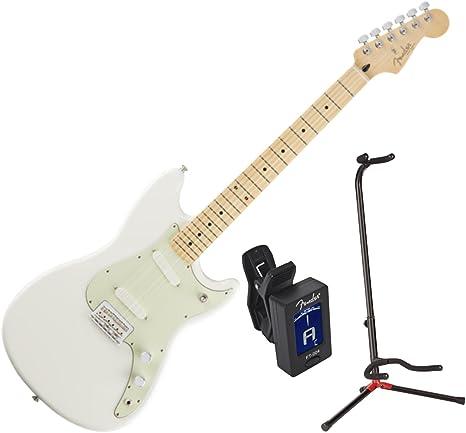 Guitarra Fender Duo Sonic MN AWT W/Stand y sintonizador: Amazon.es ...