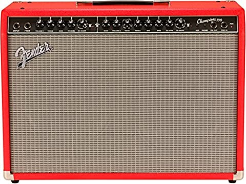 Fender 2330400600 Limited Edition Champion 100 Electric Guitar Amplifier, Fiesta Red - Fender Blues Combo Amps