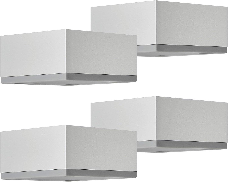 SOTECH 4er Set M/öbelf/ü/ße MOTEL 65 x 65 mm H/öhe 25 mm Edelstahloptik St/ützf/ü/ße aus Aluminum