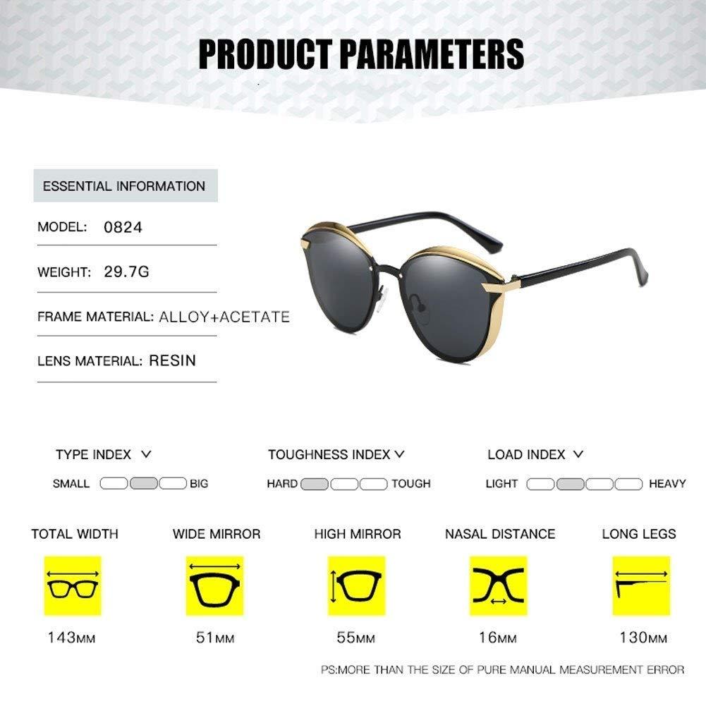 Sunglasses for Women Polarized Fashion Cat Eye Style UV400 Protection Mirrored Lens