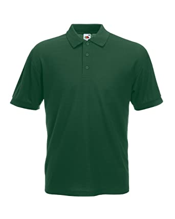 Fruit of the Loom 65/35 piqué Polo Verde verde oscuro XX-Large ...