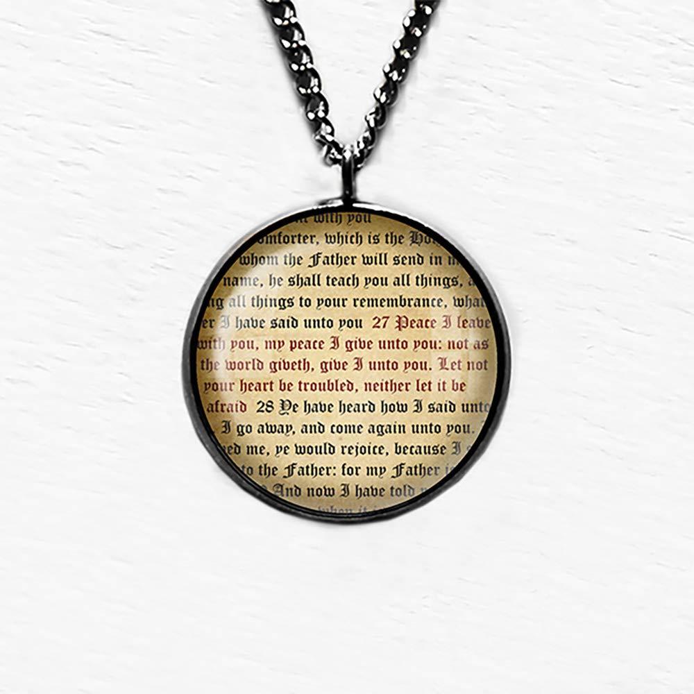 John 14:27 My Peace I give unto You King James Version KJV Bible Bookmark
