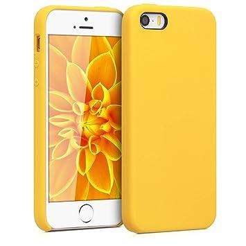 kwmobile Funda para Apple iPhone SE / 5 / 5S - Carcasa de [TPU] para teléfono móvil - Cover [Trasero] en [Amarillo Miel]