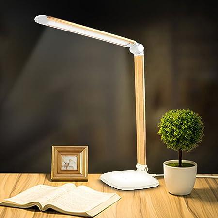 WSXXN Materiales de cobre Ángulo Ajustable Lámpara de Mesa Touch Tres Engranajes Regulable LED Lámpara de Mesa Ocio Lectura Oficina Estudio Protección Ocular Luz de Escritorio: Amazon.es: Hogar