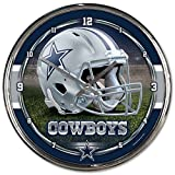 "NFL  Chrome Clock, 12"" x 12"""