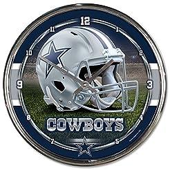 WinCraft NFL Chrome Clock, 12