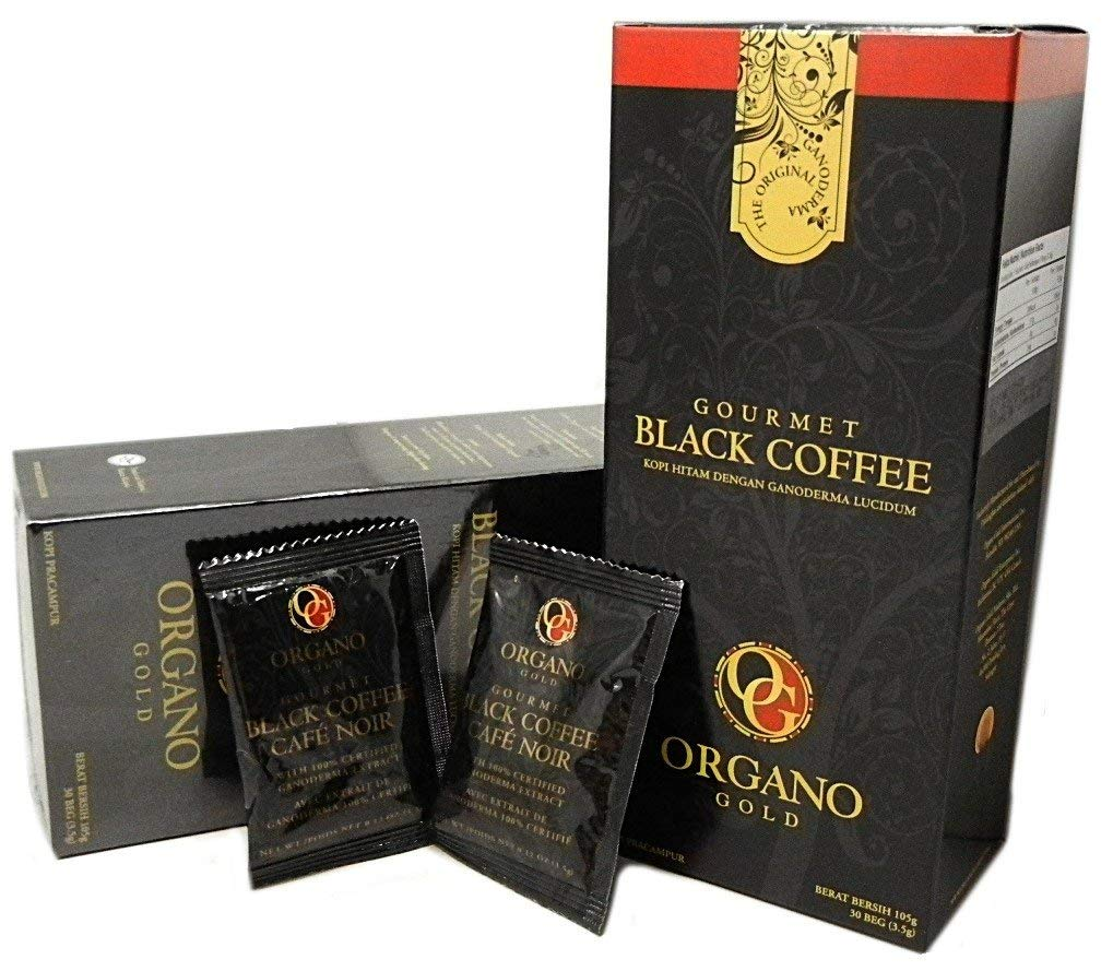 6 Boxes Organo Gold Gourmet Cafe Noir, Black Coffee 100% Certified Ganoderma Extract Sealed (1 Box of 30 Sachets) by Organo Gold