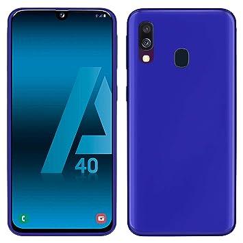 TBOC Funda de Gel TPU Azul para Samsung Galaxy A40 A405FD A405FN [5.9 Pulgadas] Carcasa de Silicona Ultrafina y Flexible para Teléfono Móvil