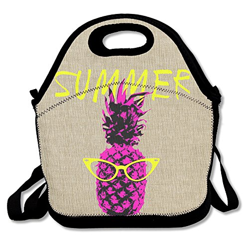 Hoeless Pineapple Fruit Hipster Insulated Lunch Backpack With Zipper,Carry Handle And Shoulder Strap For Adults Or Kids - Qvc Sunglasses
