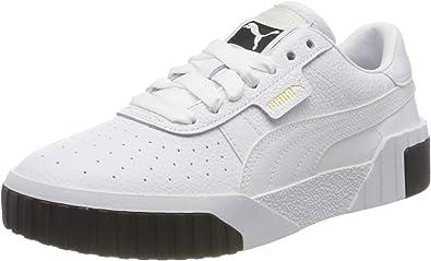 eterno Hacia fuera Juicio  Amazon.com | PUMA Women's Shoes White Black Cali Sneaker Fall Winter 2019 |  Fashion Sneakers