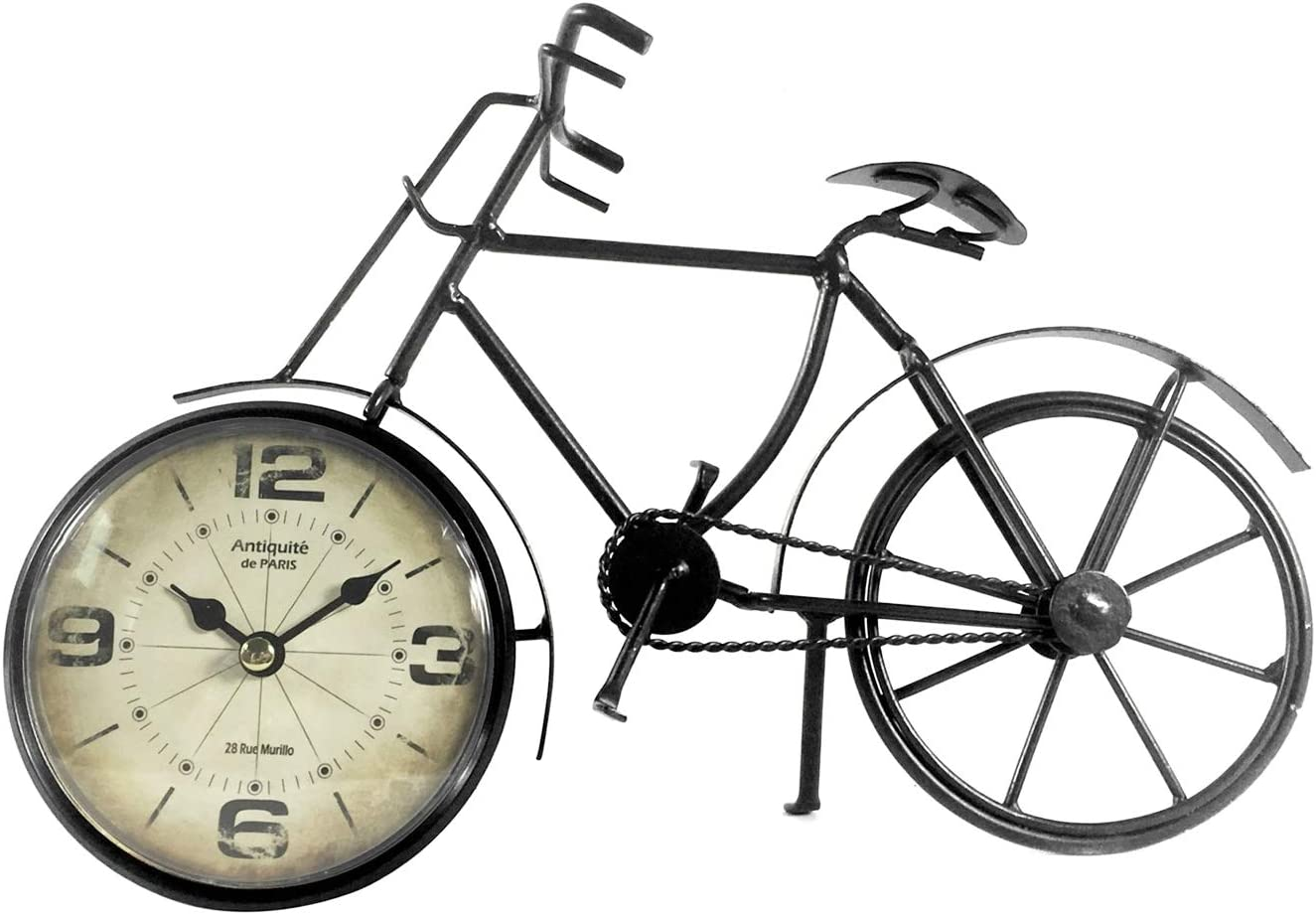 The Bridge Collection Vintage Style Bicycle Desk Clock