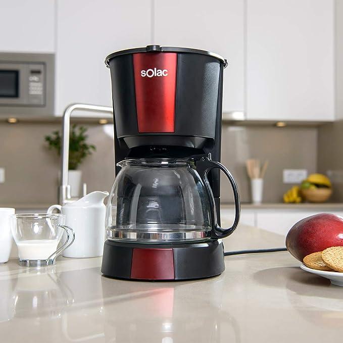Solac CF4029 Stillo Red Cafetera de goteo de 1,2 litros, 12 tazas ...