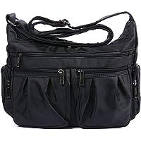 RFID Blocking Crossbody Bags for Women Lightweight Nylon Shoulder Bag Water Resistant Travel Purses Multi Pocket Work…