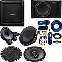 KENWOOD EXCELON 6X9 2-WAY COAXIAL SPEAKER 600 WATTS With XR-1700P 6-3/4 component speaker also fits 6-1/2v + P-XW1000B 10 Subwoofer +Kenwood Excelon X501-1 Class D Mono Power Amplifier