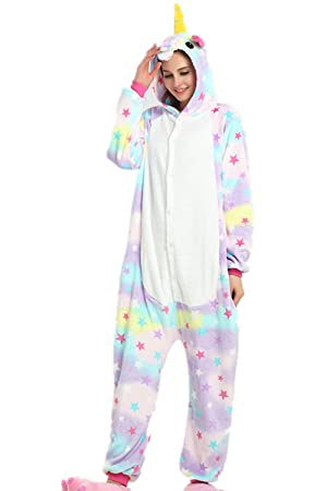 Kenmont Pijamas Unisexo Adulto Unicornio Cartoon Animal Novedad Navidad Pijama Cosplay Disfraces (Size S:
