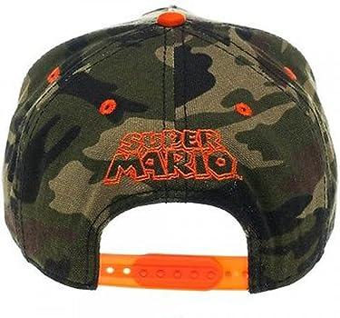 Bioworld Gamer Geek Nintendo Mario Bowser Camuflaje Naranja Gorra ...