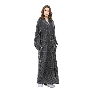 Oksun Womens Plus Size Fleece Dressing Gown Soft Bathrobe Full