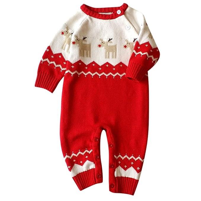 MNBS Navidad peleles bebe invierno Suéter sweater sudaderas niño suéter-Rojo-2A: Amazon.es: Ropa y accesorios