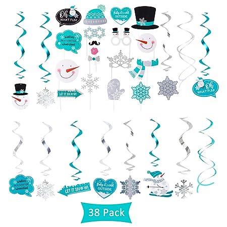 Amycute 38 piezas de adornos colgantes de Navidad para ...