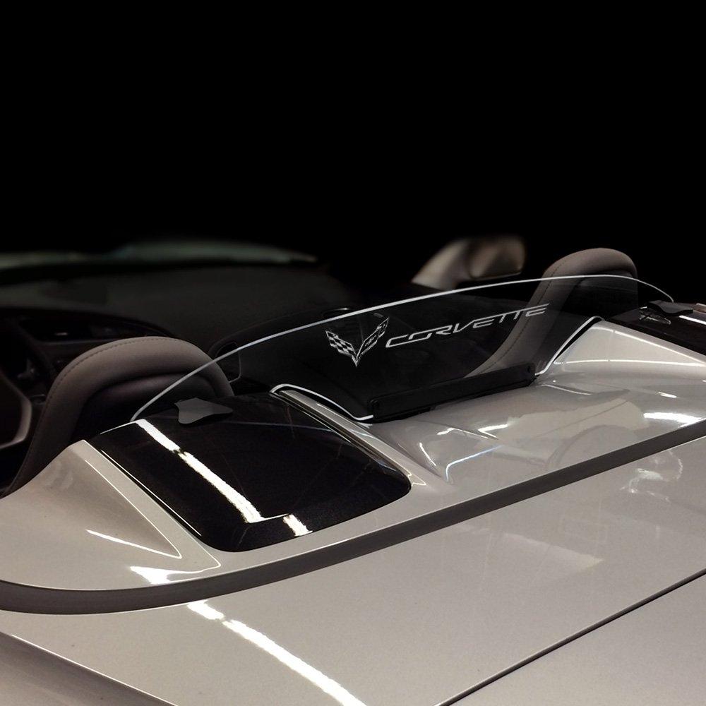 Laser-Etched Design Windrestrictor Option 7 Wind Deflector for Convertible Compatible with 2014-2018 Chevrolet C7 Corvette GM Licensed