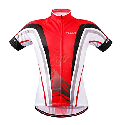 faf82d0f5 WOSAWE Cycling Jersey Bicycle Bike Cycle Short Sleeve Jersey Suit  Breathable Quick Dry Jersey Only S