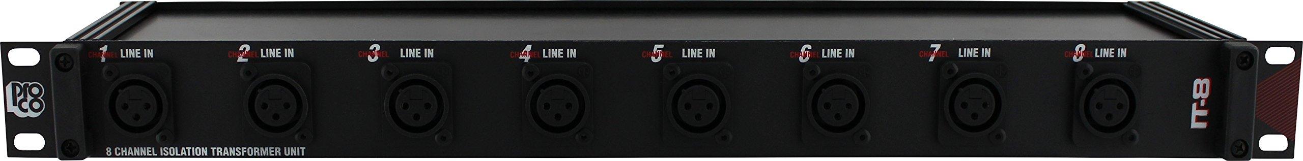 Pro Co Sound IT8A Rack Mount 8-Channel Isolation Unit