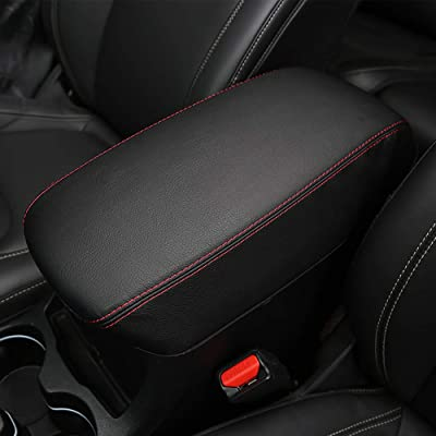 Leegi Jeep Armrest Box Cover,1pc Black with Red Center Console Cover Fit for 2020 2020 2020 Jeep Cherokee: Automotive