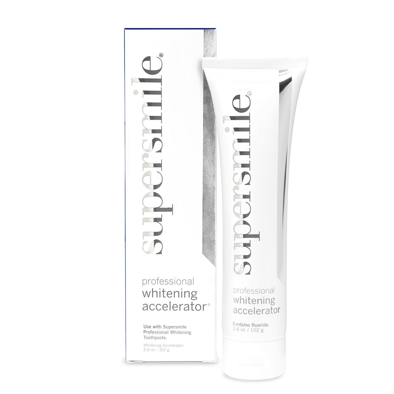 Supersmile Professional Whitening Accelerator - Lifts Deep-Set Stains, Quick Teeth Whitening, No Sensitivity, 3 Month Supply – 3.6 Ounce