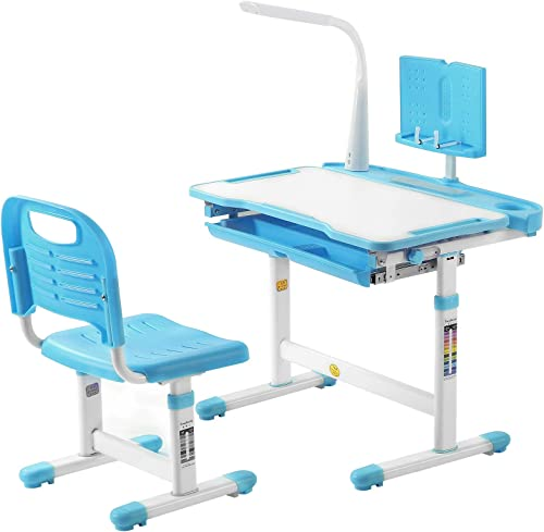 Kids Desk and Chair Set Height Adjustable Children Study Table