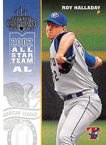 Roy Halladay baseball card (Toronto Blue Jays Pitcher) 2002 Donruss Champions #271 All Star ()