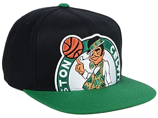 the best attitude ffeaa b7ad7 Amazon.com   Mitchell   Ness NBA Cropped XL Logo Adjustable Snapback Hat  (One Size, Boston Celtics)   Clothing